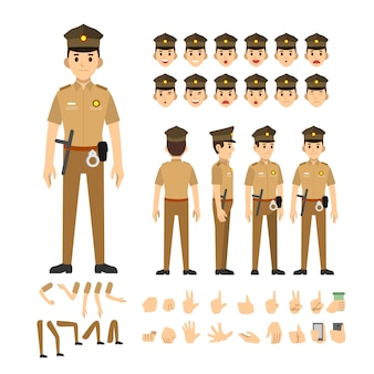 Police man india character set