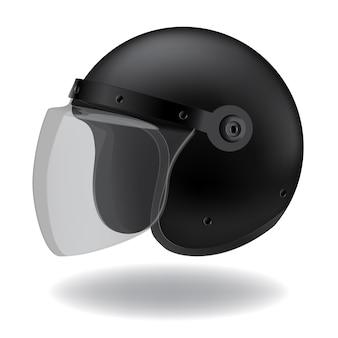 Полицейский мотоциклетный шлем на белом фоне