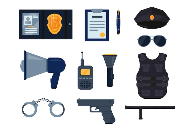 警察官の機器アイコンが設定されました