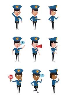 Полицейские значки мультфильма