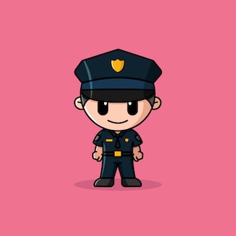 Police officer logo character mascot