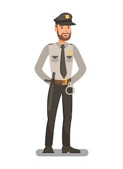 Police officer in uniform