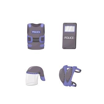 경찰 개인 보호 장비 프리미엄 벡터