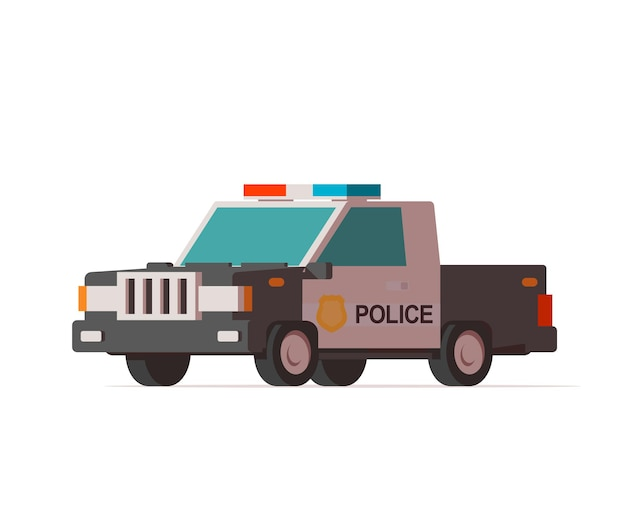 警察のピックアップトラック