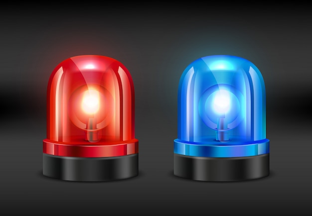 Police siren, realistic  of fire or police siren