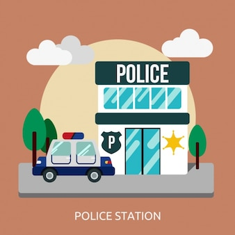 Police station background design
