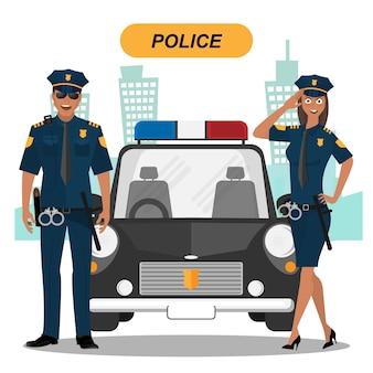 警察チームのキャラクターコレクション