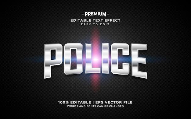 Текстовый эффект полиции