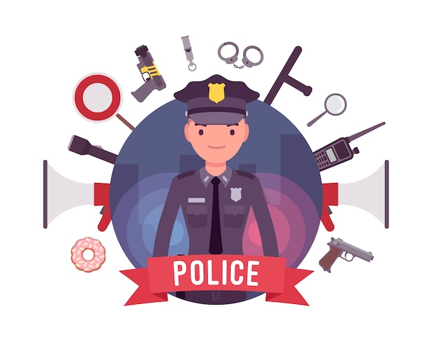 경찰관 및 무기 포스터