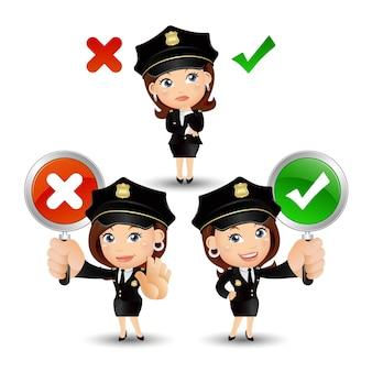 Персонажи-полицейские в разных позах