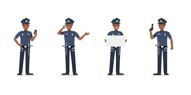 경찰관 작업 문자