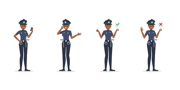 警官の働くキャラクター。 no2