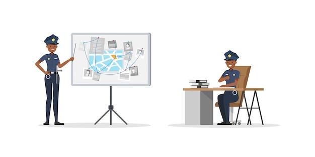 警官の働くキャラクター。 no5