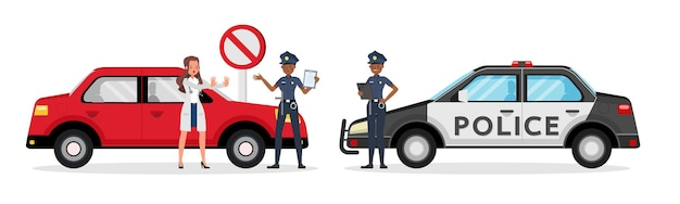 警官の働くキャラクター。 no7