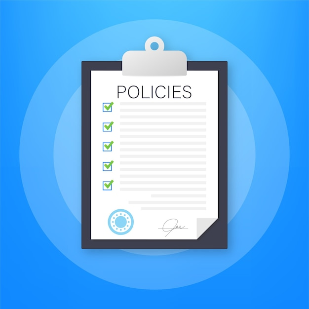 Policies in flat style illustration