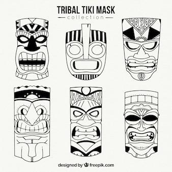 Полинезийские тики маски
