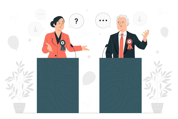 Political debate concept illustration