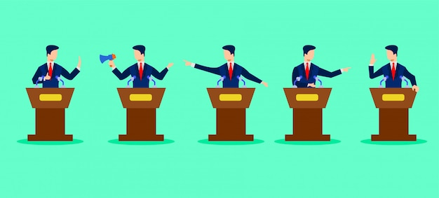 Political debates illustration