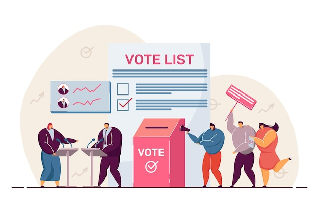 Political debates and voting, balloting citizens