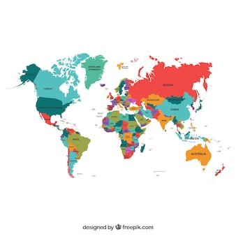 World map vectors photos and psd files free download political map of the world gumiabroncs Images