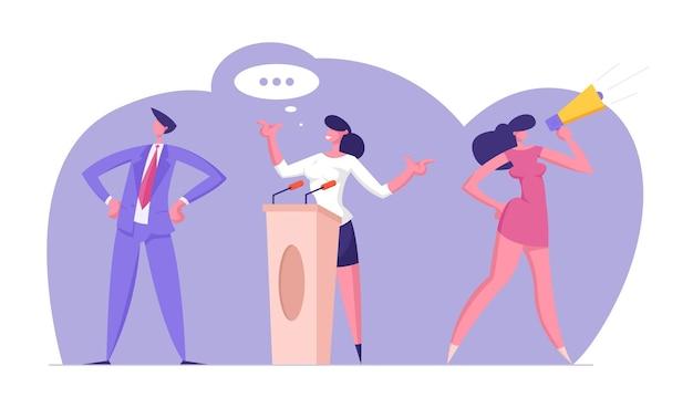 음성 사전 선거 캠페인 후보와의 정치 회의, 캐릭터 투표