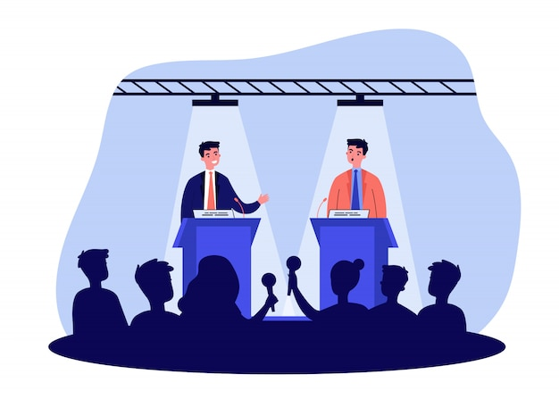 Политические оппоненты спорят в дебатах