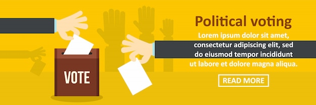 Political voting banner template horizontal concept