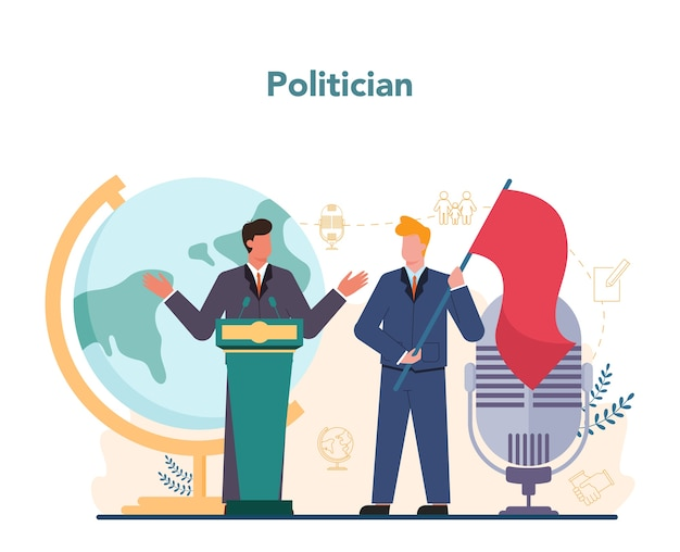 Politician concept idea of election and governement