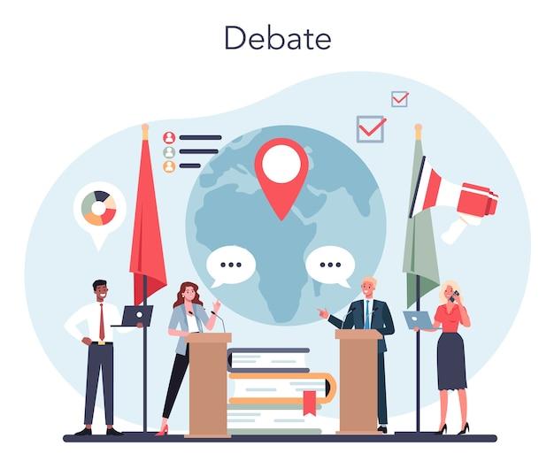 Politician concept political debate