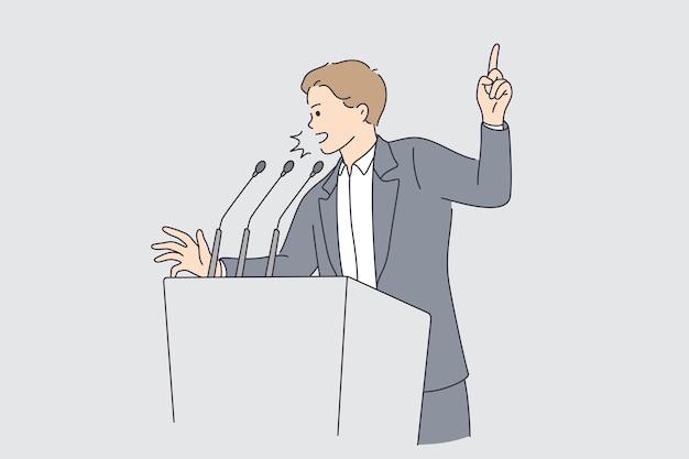 Politics and election campaign concept