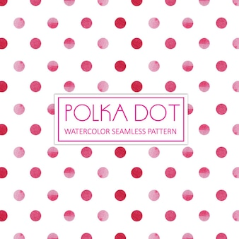 Акварель polka dot background