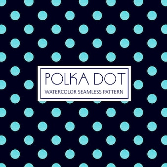 Акварель polka dot background