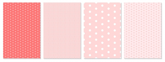 Polka dot pattern . baby background. coral color.