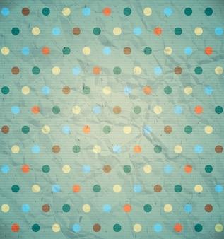Polka dot pattern on blue background