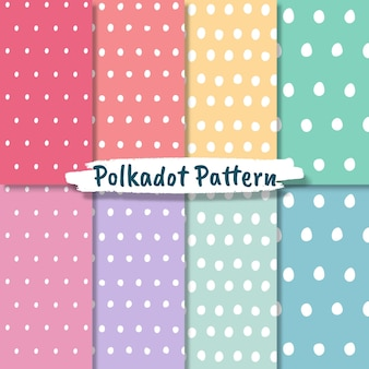 Polka dot pattern collection in pastel colors