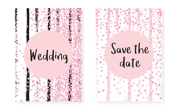 Polka dot template. golden stylish particles. splatter magazine. pink nursery art. rose girly paint. engagement brochure set. stripe winter design. pink polka dot template