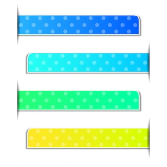 Polka dots on four different color background