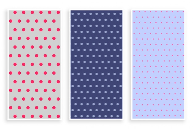 Polka dots pattern banner set