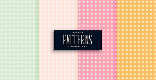 Polka dots patterns set of four