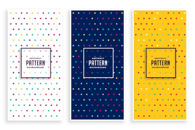 Set di banner modello polka