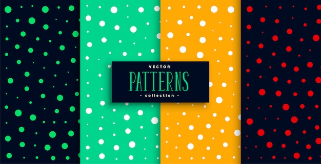 Polka style colorful circles pattern set