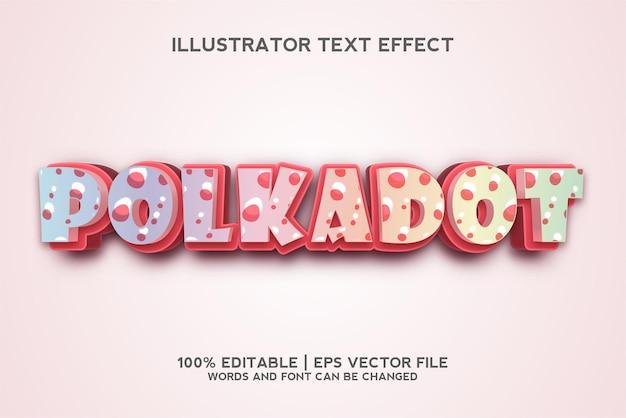 Шаблон текстового эффекта polkadot 3d