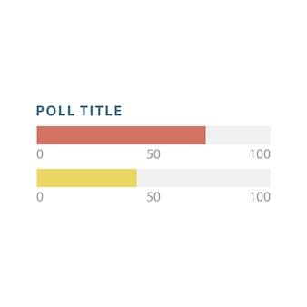 Poll bar infographic chart vector
