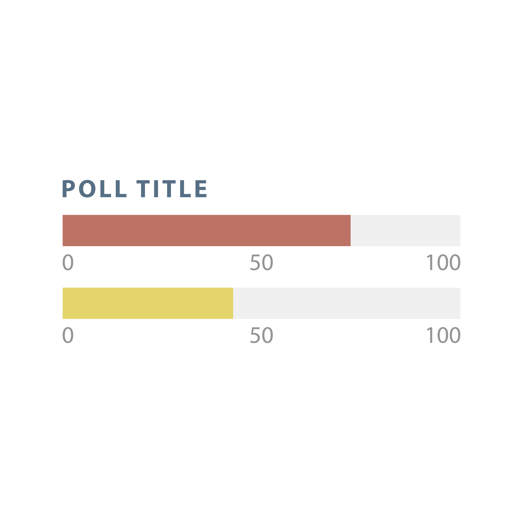 Poll bar infographic chart vector