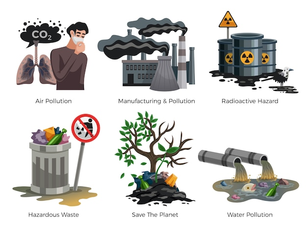 Pollution awareness element set