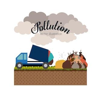 Загрязнение дизайн, векторные иллюстрации.