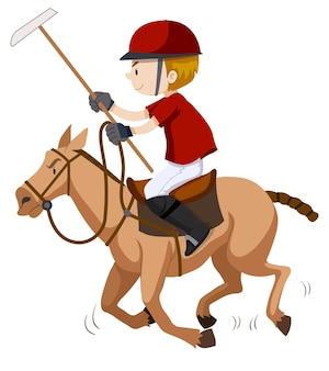 Polo player riding on horse