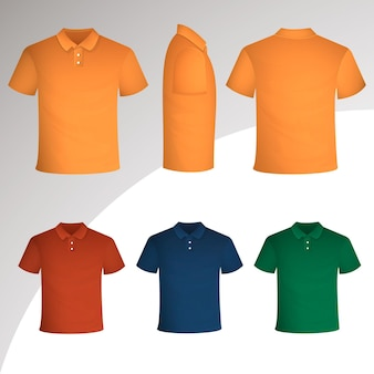 Polo shirt collection concept