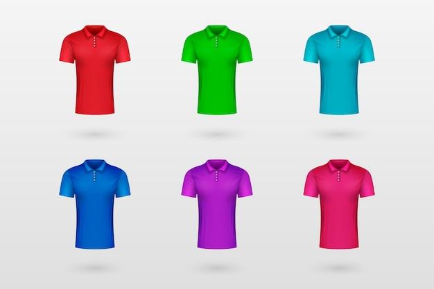 Polo shirt collection concept