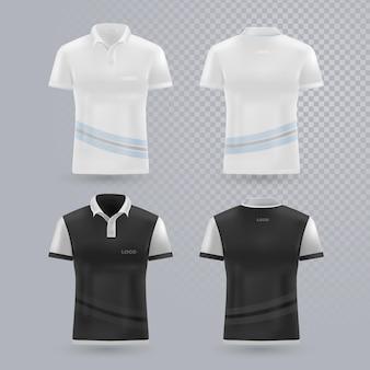 Коллекция рубашек поло спереди и сзади